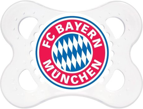 MAM Soother FC Bayern München - The jaw fair, balanced cleaner consists of special MAM silk teat silicone.