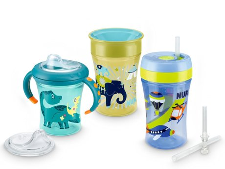 NUK Trainer beaker set -  With the Bieco dining set your darling is well staffed and can consume the meal itself
