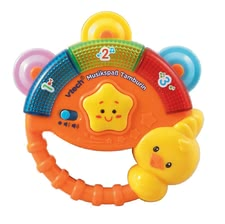 VTech tambourine music fun -  Our tambourine for having fun playing music by VTech can be used by your little one aged 9 months and is ideal to support the motor ability activities and the language development