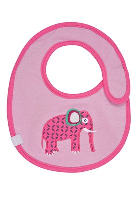 Lässig bib with zip fastener – Small Wildlife Elephant 2017 - Image de grande taille