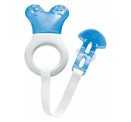 MAM Cooler teether with clip - The extra light mini cooler & clip is ideal for your sweet pie, if the first teeth breaking through.