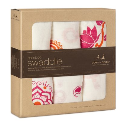 aden+anais bamboo swaddle 3- pack - The great versatile swaddles from aden+anais will soon become an important accessory in your everyday live with your little one.