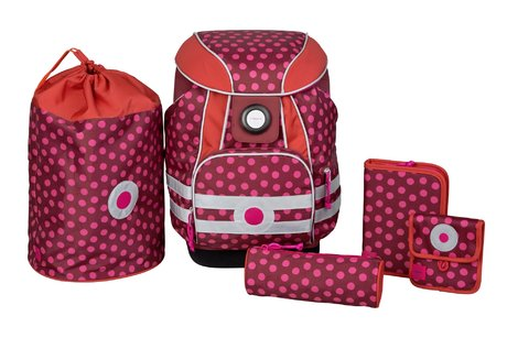 Lässig School satchel set Dottie Red 2016 - Image de grande taille