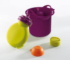 Béaba Accessory set for Babycook Solo / Duo - The Compote bottle Babypote is made of silicone and is ideal for small children. Thanks to the bottle, your child can enjoy homemade Compote.