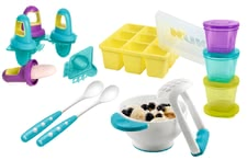 NUK fresh foods set - NUK fresh foods set – This set is ideal for preparing, portioning and storaging self-cooked meals of fruits and vegetables.