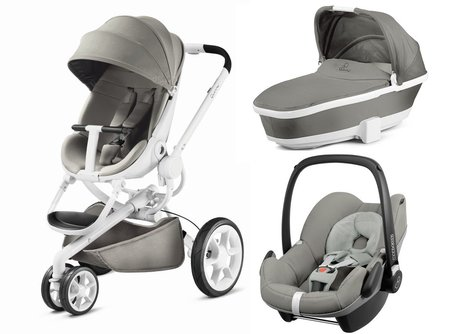 Quinny Moodd including carrycot and Maxi-Cosi infant carrier Pebble Grey Gravel 2017 - Image de grande taille