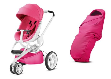 Quinny Moodd stroller including foot muff Pink Passion 2017 - Image de grande taille