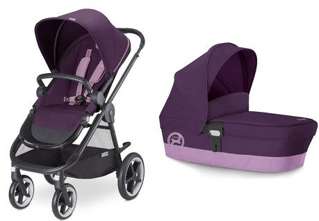 Cybex Kinderwagen Balios M inklusive Kinderwagenaufsatz M Grape Juice - purple 2016 - Großbild