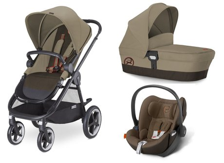 Cybex Stroller Balios M + carrycot attachment M + infant carrier Aton 4 Coffee Bean - brown 2015 - large image
