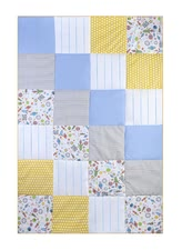 Zöllner my Julius patchwork quilt My Star Trip - The modern patchwork Plaid becomes the eye candy and convince your little astronauts and all trend-conscious parents!