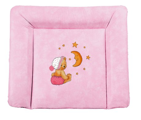 Zöllner Softy changing mat, Cuddly Bear, pink - Wrapping is not only practical, but also enjoyable for the new parents and the little sunshine, is using a changing mat from the tax collector home advan...