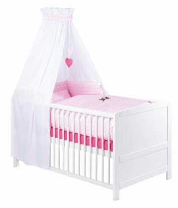 Zöllner 3-piece cot set with appliqué Little Deer 2015 - Image de grande taille
