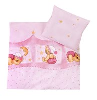 Zöllner 2-piece bedding set Cuddly Bear, pink - Healthy sleep promotes the development of your little sunshine. That's why your Sparrow in the crib or bassinet should feel comfortable.