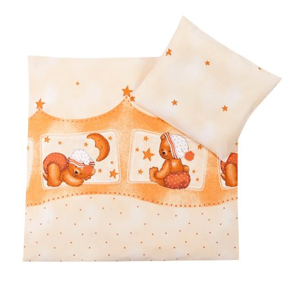Zöllner 2-piece bedding set Cuddly Bear, apricot - Healthy sleep promotes the development of your little sunshine. That's why your Sparrow in the crib or bassinet should feel comfortable.