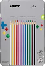 Lamy 4plus Set of 12 metal box -  The Lamy 4plus is ideal for preschoolers.