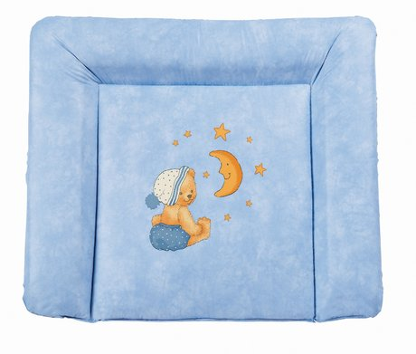 Zöllner Softy changing mat, Cuddly Bear, blue - Wrapping is not only practical, but also enjoyable for the new parents and the little sunshine, is using a changing mat from the tax collector home advan...