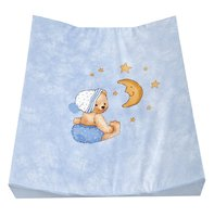 Zöllner Double-wedge changing mat Cuddly Bear, blue - Wrapping is not only practical, but also enjoyable for the new parents and the little sunshine, is using a changing mat from the tax collector home advan...