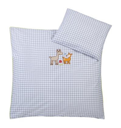 Zöllner Bedding set with appliqué Deer Family - Healthy sleep promotes the development of your little sunshine. That's why your Sparrow in the crib or bassinet should feel comfortable.