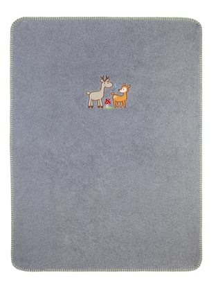 Zöllner Cozy blanket with appliqué, Deer Family 2016 - large image