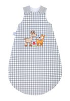 Zöllner Sleeping bag with appliqué, Deer Family - With the grey Plaid sleeping bag, prepare good night's sleep and the sweet deer family accompanies your small children on wonderful dream trips.