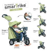 SmarTrike Tricycle Explorer - Le tricycle unique 5 en 1 Explorer accompagne vous et vos descendants dès l'âge de 10 mois à 3 ans et offre une variété d'outils.
