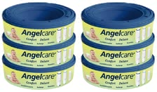 Angelcare containger for nappy bucket 6-pack - The Angelcare refill cassettes consist of foil with odor barrier multilayer AIR-SEAL.