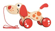 "Hape toy for pulling up Puppy - The cute Nachziehtier puppies puppy follows his small master or mistress at every step, whether at home or in the nature at the ""walk walk""."
