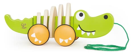 Hape toy for pulling up crocodile - This quaint journeyman follows your little sunshine at every step, whether at home or on the road.