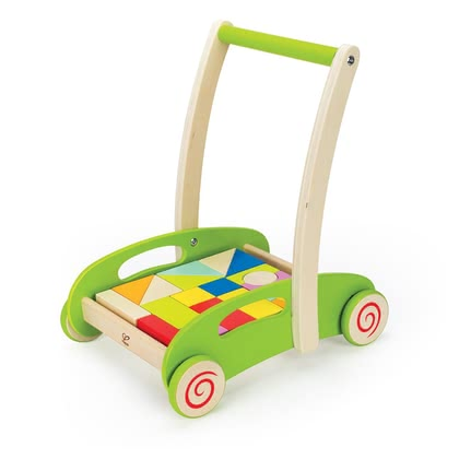 Hape Bau-Wagen - Fill, build, download, carry, push, pull, play.
