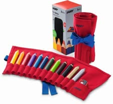 Lamy 3-Plus Coloring Pencil Set in Fabric Roll -  The Lamy 3-Plus Coloring Pencil Set in Fabric Roll is a great equipment for your child.