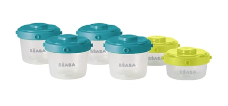 Beaba Clip Portion Set 125ml and 60ml, 6 Piece Set -  The Beaba Clip Portions Set is airtight and leak-proof.
