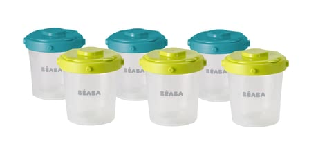Beaba Clip Portion Set 200ml, 6 Piece Set -  Thanks to Beaba Clip Portions Set can you easily store your meals.