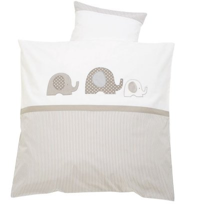 "Alvi bed linen with embroidering ""Elephant"" - The Alvi bedding elephant offers your sweetheart a perfect sleeping comfort."