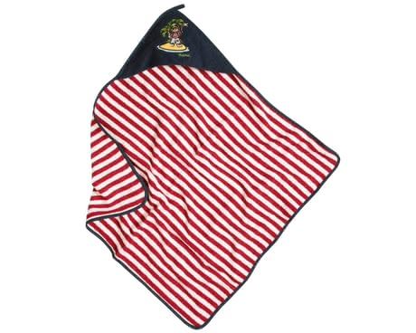 Playshoes towelling hood bath towel, pirate island 2016 - large image