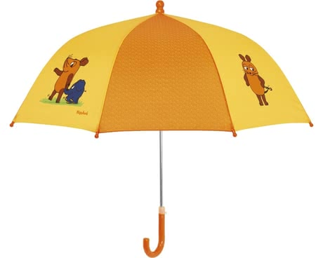 Playshoes umbrella for children, yellow mouse & elephant - Whether rainy days or tristes weather with the Playshoes mouse & elephant umbrella yellow is your child always well protected from above.