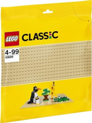 LEGO Classic base plate sandy -  Lego Classic base plate sandy – A useful enrichment for the Lego collection of your child.