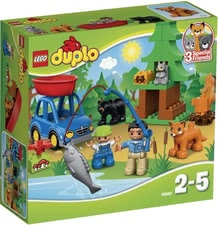 LEGO Duplo Angelausflug - With the LEGO Duplo fishing trip your child is experiencing lots of fun. Various figures and animals provide many role-playing games and ways to play.