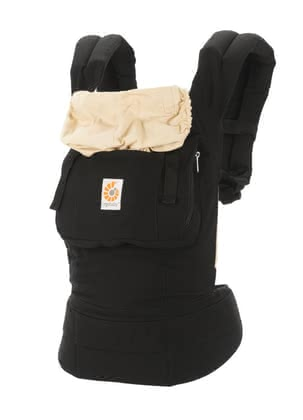 Ergobaby original baby carrier Black/Camel - Stay active with your sweet young. No problem - the ERGObaby baby carrier original perfectly distributing the weight of your baby on the hip and shoulders.