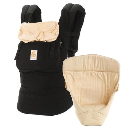 "Ergobaby original baby carrier, our ""from birth on"" package Black/Camel - The Ergobaby original ""from birth on"" package enables you to carry your child ergonomically in three different positions."