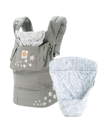 "Ergobaby original baby carrier, our ""from birth on"" package Galaxy Grey - Restez actif avec votre jeune doux."