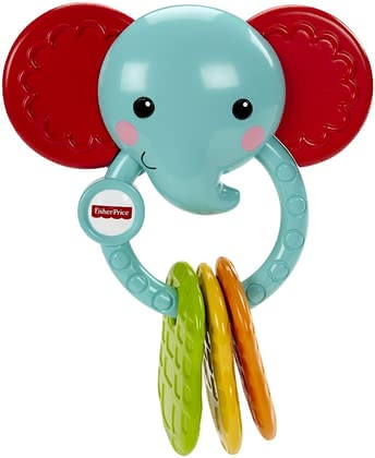 Fisher-Price Elefanten-Beißring - Fisher Price elephant teething ring - The elephant teething ring by Fisher Price can be used by your little one aged 3 months and is an ideal help for toothing