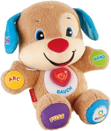 Fisher-Price educational fun dog - Fisher-Price educational fun dog – The cuddly dog will become a great companion while playing.