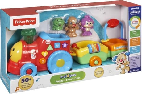 Fisher-Price щенячий  поезд - развивающая игрушка 2016 - большое изображение