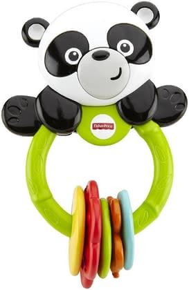 Fisher Price Klick-Klack panda - The Klick-Klack panda by Fisher Price is the ideal companion with ist five coloured ticktack toys. It does not matter whether you are at home or en route.