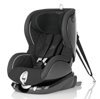Britax Römer Trifix Limited Edition - BLACK EDITION - Strictly limited edition    Handmade Carbon and leather look 100% Made in Germany      5-point belt Side impact protection Patented SI-Pads      Limited Edition // worldwide only 500 pieces