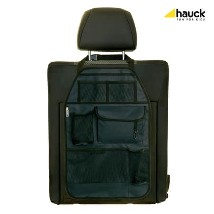 Hauck Rückenlehnenschutz Cover me deluxe - The high-quality back protection cover me deluxe protects not only from dirt, but is used for the storage of many useful things in the car.