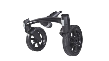 Quinny Moodd 4-Rad Vorderradachse - Thanks to the Quinny Moodd front wheel axle turns the chic 3-wheel stroller in a 4-wheel stroller.