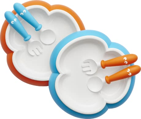 BabyBjörn plate, spoon and fork 2 pieces - The funny set consists of a plate, a spoon and a fork and was developed to facilitate eating independently for your little one.