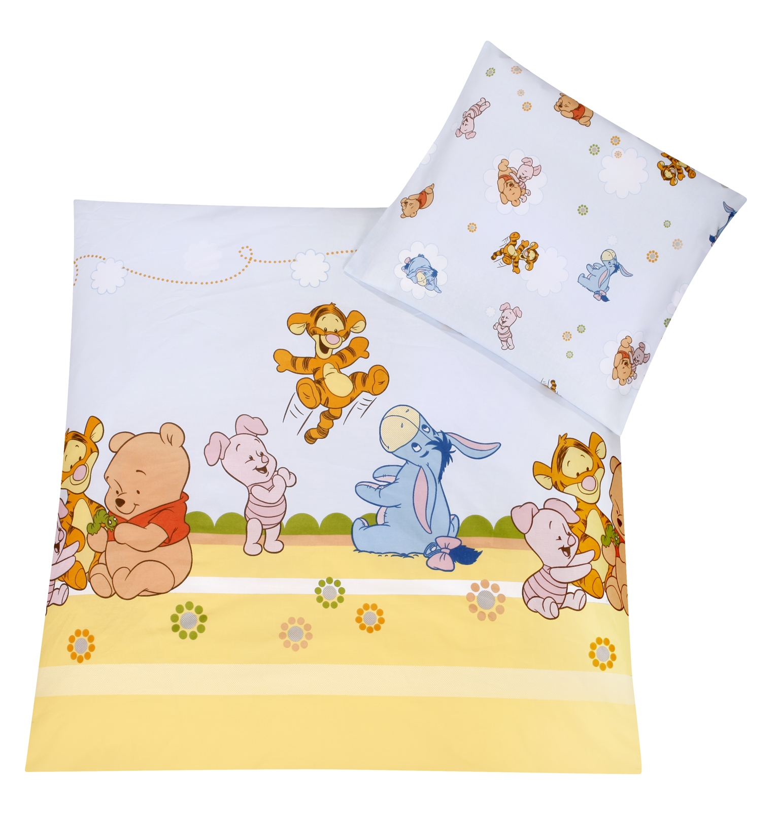 Zöllner Disney Bettwäsche Baby Pooh and Friends 80x80/35x40 cm ...