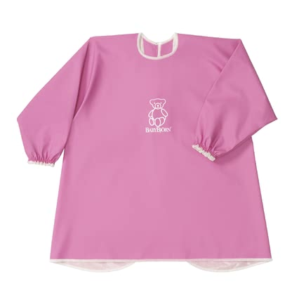 Baby Björn apron for eating and playing Pink 2017 - Image de grande taille